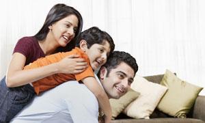 幸福三口之家人物亲子摄影高清图片