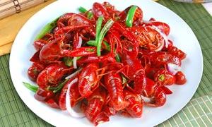 青椒炒龙虾餐饮美食摄影图片