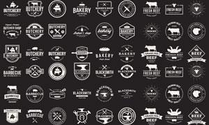 黑白復古風格徽章標志等矢量素材V3