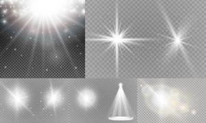 耀眼光效与星光等主题矢量素材集V1