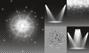 耀眼光效与星光等主题矢量素材集V4