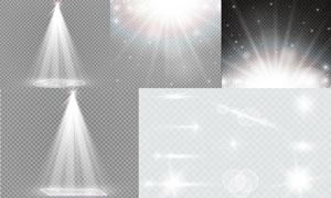 耀眼光效与星光等主题矢量素材集V5