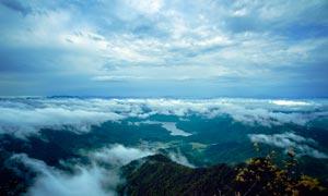 韶关龙斗峰山顶美景摄影图片