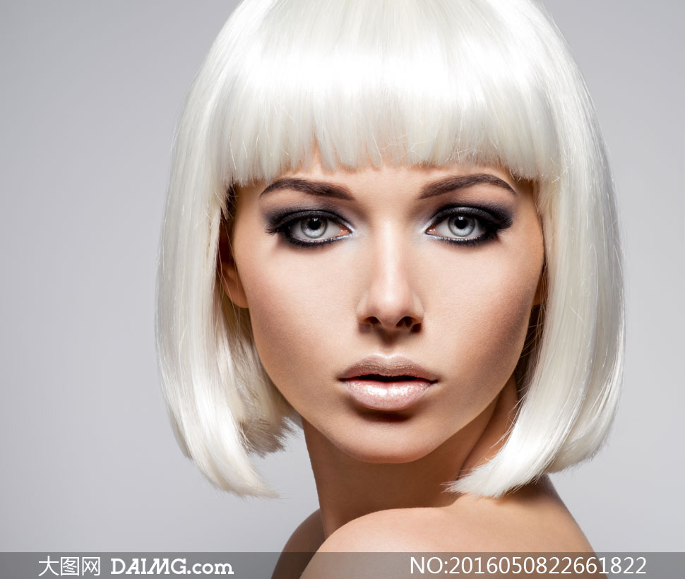 齐肩短发美女人物写真摄影高清图片