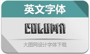 Column系列四款英文字体