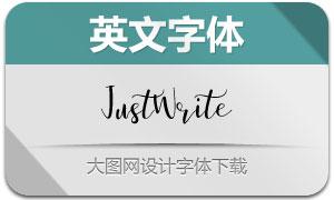 JustWrite系列三款英文字体