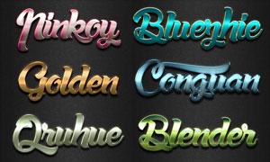 10款现代风格大气质感字体PS样式V1
