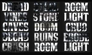 颓废风格电影主题字体设计PS样式V4