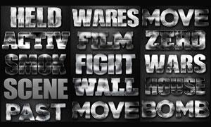 颓废风格电影主题字体设计PS样式V5