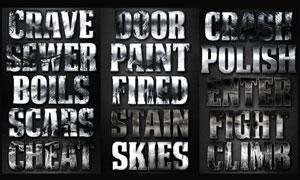 颓废风格电影主题字体设计PS样式V6
