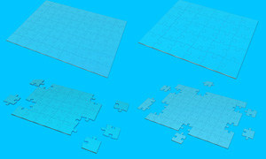 方便快捷制作拼图效果PSD分层模板