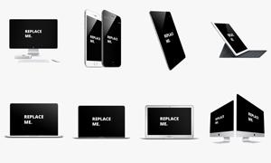 苹果手机与平板电脑等产品贴图模板