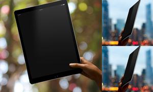 拿在手里的平板电脑效果贴图源文件