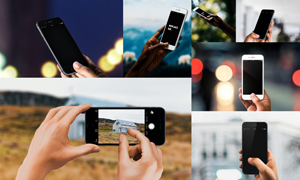 拿在手里的智能手机效果贴图源文件