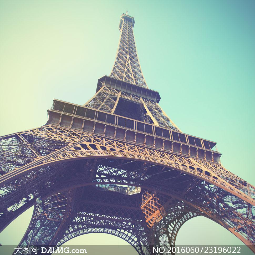 法国巴黎的埃菲尔铁塔摄影高清图片