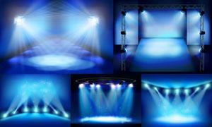 舞台耀眼灯光主题设计矢量素材集V1
