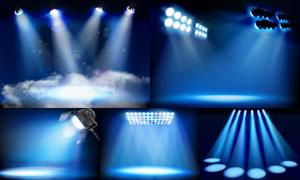 舞台耀眼灯光主题设计矢量素材集V2