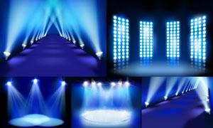 舞台耀眼灯光主题设计矢量素材集V3