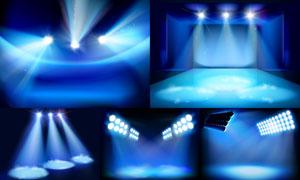 舞台耀眼灯光主题设计矢量素材集V4