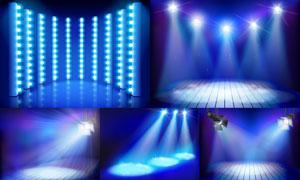 舞台耀眼灯光主题设计矢量素材集V5