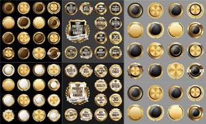 金質獎章徽章標簽設計創意矢量素材