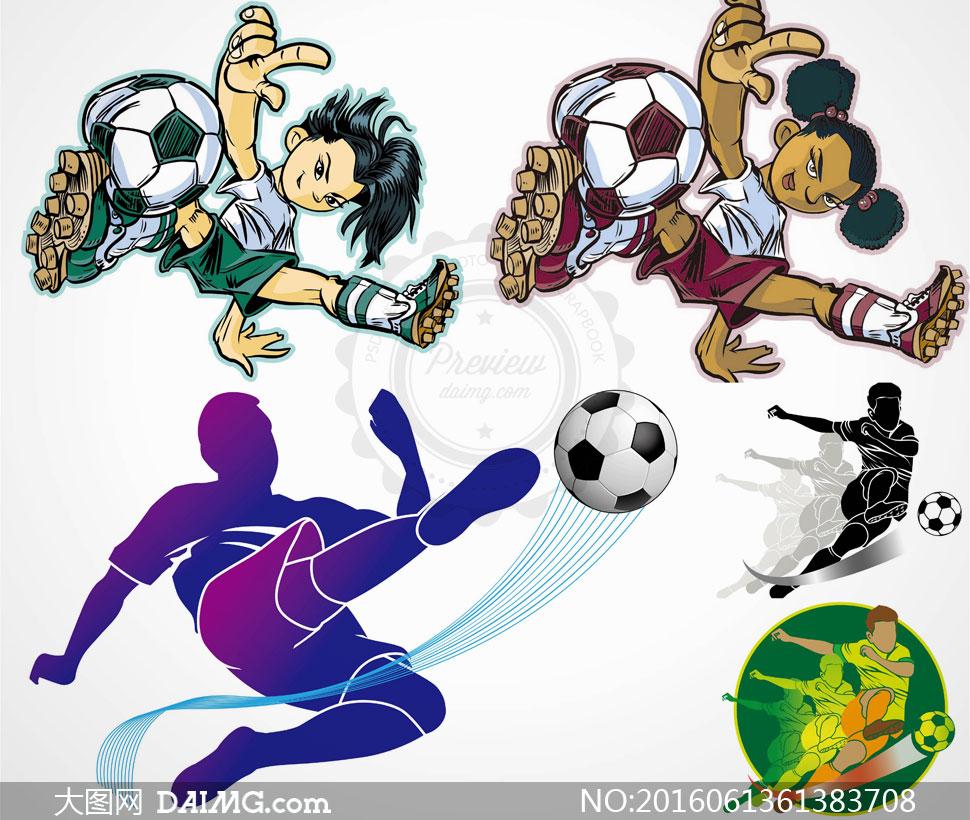 手绘风格足球