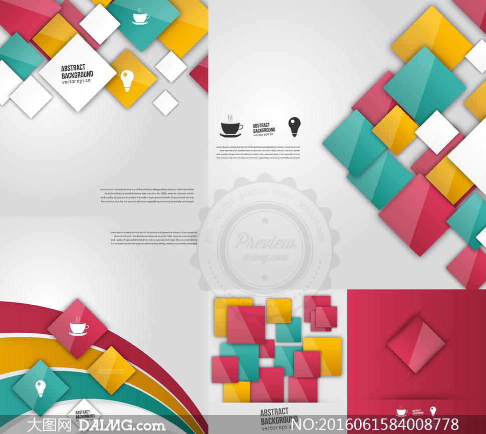 > 素材信息                          圆形与蜂窝状抽象背景创意矢量