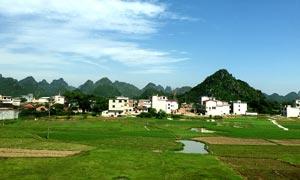 桂林田园风光和野外农田摄影图片