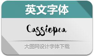 Cassiopea系列四款英文字体