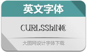 CurlsShine系列三款英文字体