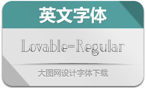 Lovable-Regular(英文字体)