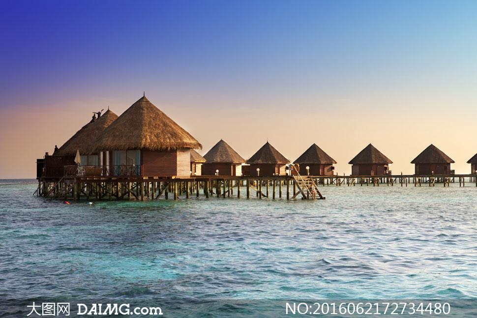 大图首页 高清图片 自然风景 > 素材信息          碧海蓝天椰树热带
