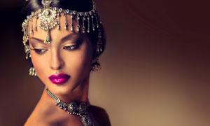 浓妆头饰美女人物写真摄影高清图片