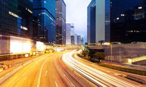 城市建筑物长曝光创意摄影高清图片