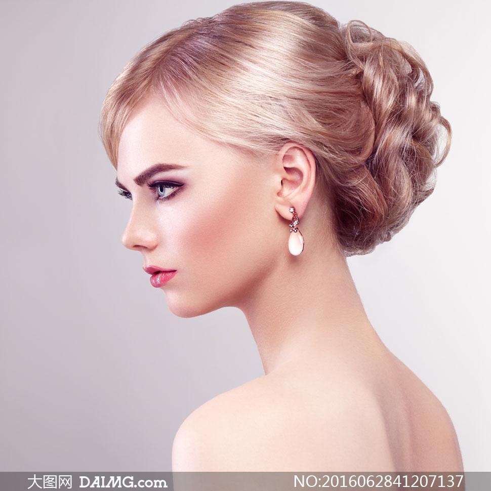 高清大图图片素材摄影人物美女女人女性模特写真人像首饰饰品眼妆妆容