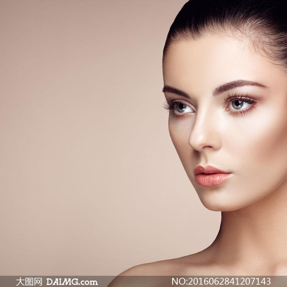 黑发美妆人物模特写真摄影高清图片