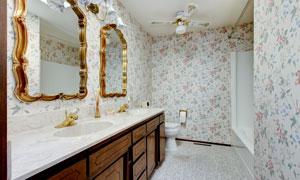 房间卫浴橱柜与镜框等摄影高清图片
