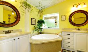 欧式奢华风格浴室内景效果高清图片