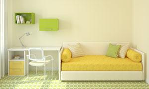 房间里的沙发与书桌等摄影高清图片
