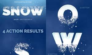 雪域打散艺术字效果PS动作