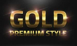 36款黄金质感艺术字设计PS样式V1
