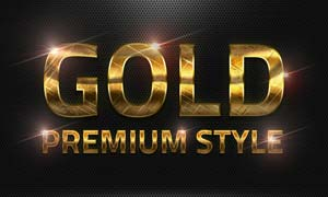 36款黄金质感艺术字设计PS样式V2