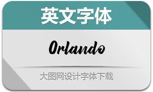 Orlando系列等英文字体