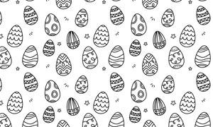可爱的鸡蛋花纹背景PS笔刷