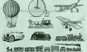 欧式古代交通工具PS笔刷