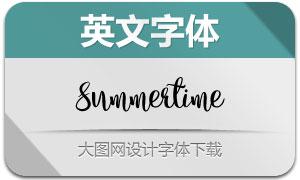 Summertime系列4款英文字体