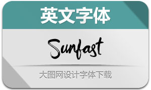 Sunfast(手写英文字体)