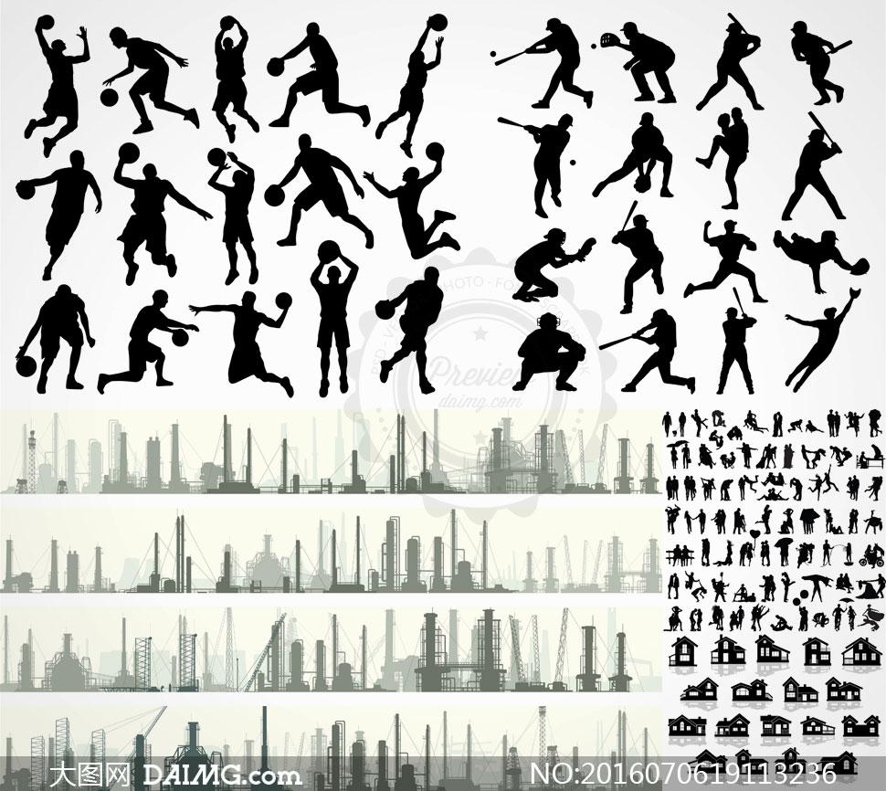 关 键 词: 矢量素材矢量图设计素材剪影人物黑白篮球橄榄球运动体育