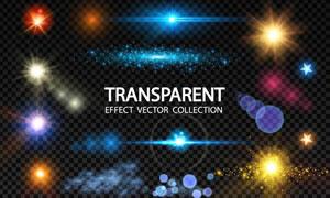 透明效果炫丽缤纷光效元素矢量素材