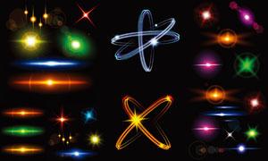 耀眼夺目的灯光等主题创意矢量素材